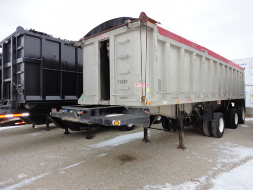 Fruehauf Trailer for sale from grading and excavation company Cambridge